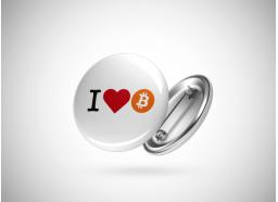 Pin I Love Bitcoin