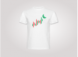 Camiseta to the moon blanca