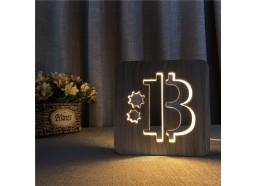 Luz de madera Bitcoin