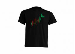 Camiseta to the moon Negra