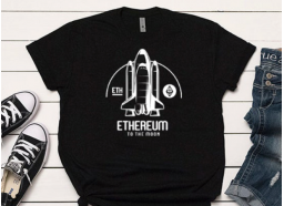 Camiseta Ethereum Cohete Negra